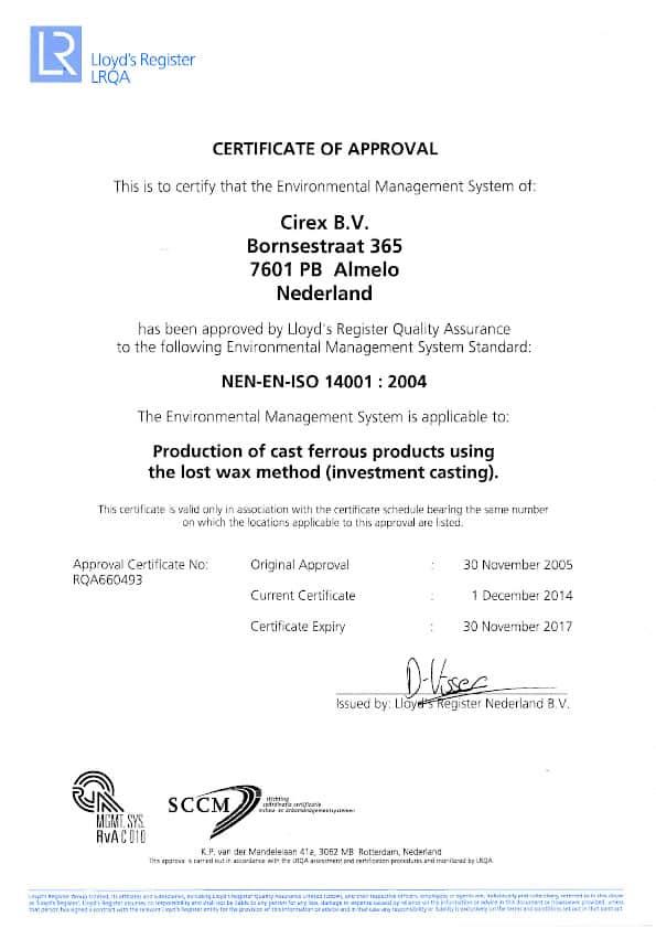 ISO 14001 NL CIREX