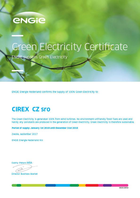 CIREX CZ Green Electricity Certificate